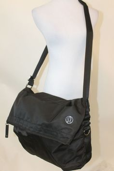 http://www.ebay.com/itm/LULULEMON-black-nylon-large-messenger-bag-/381196911728