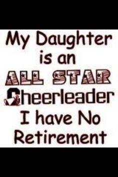 I'm a mom of an Allstar cheerleader