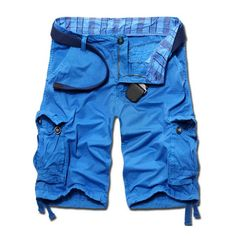 Wholesale Casual Loose Fit Solid Color Cargo Shorts For Men Only $9.04 Drop…