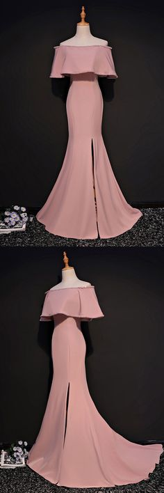 Only $158, Sheath Off The Shoulder Pink Mermaid Formal Dress With Slit #MQD17008 at #SheProm. SheProm is an online store with thousands of dresses, range from Formal,Evening,Pink,Long Dresses,Off the Shoulder Dresses,Customizable Dresses and so on. Not only selling formal dresses, more and more trendy dress styles will be updated daily to our store. With low price and high quality guaranteed, you will definitely like shopping from us.