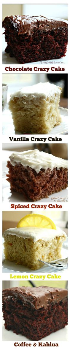 CRAZY CAKE, also known as Wacky Cake & Depression Cake- No Eggs, Milk, Butter,Bowls or Mixers! Super moist & delicious. Great activity to do with kids. Go to recipe for egg/dairy allergies. Recipe dates back to the Great Depression. It's darn good cake! | SweetLittleBlueBird.com