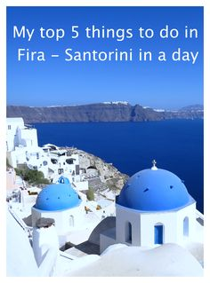 There are so many activities and options to occupy your time on Santorini. Mykonos, Fira Santorini, Travel Guides, Travel Tips, Travel Plan, Weekend Trips, Weekend Getaways, Places To Travel, Travel Destinations
