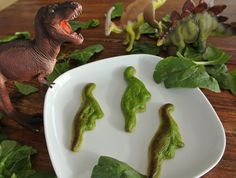 3D printed food?    printed spinach quiche dinosaurs