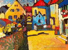 Grungasse In Murnau - Wassily Kandinsky - oil painting reproduction