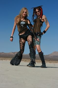 Wasteland Women by DirtyandDistressed on DeviantArt Does Your Mother Know, Wasteland Warrior, Post Apocalyptic Costume, Wasteland Weekend, Urban Fashion, Apocalypse, Custom Shirts, Gentleman, Punk