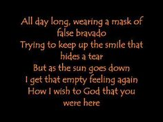 Geez! I think this one is from my High School days! .... Baby Come Back by Player(lyrics)