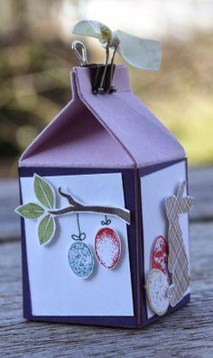 Polly kreativ: Eieiei - Österlicher Minimilk mit verschiedenen SU-Stempeln