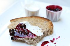 Jam, butter and home made bread