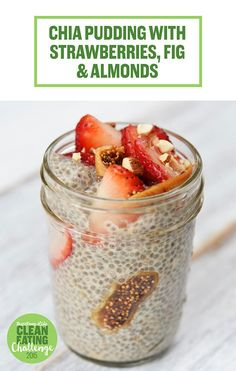 Chia Pudding with Strawberries, Fig, and Almonds | 19 Eggless Breakfasts That Are Actually Healthy And Delicious
