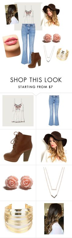 """""""Boho adorable"""" by facummings ❤ liked on Polyvore featuring Abercrombie & Fitch, MiH, Michael Kors, WithChic, LASplash, women's clothing, women's fashion, women, female and woman"""