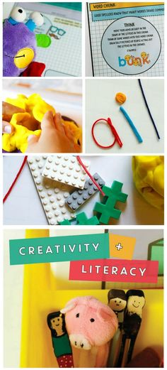 Creative literacy ideas for home and school.