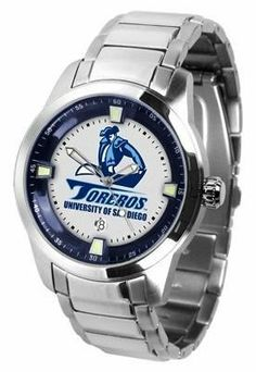 San Diego Toreros Men's Stainless Steel Outdoor Watch by SunTime. $127.95. Links Make Watch Adjustable. Stainless Steel. AnoChrome Bezel. Officially Licensed San Diego USD Toreros Men's Stainless Steel Outdoor Watch. Men. San Diego Toreros men's stainless steel dress or sports watch. San Diego Toreros timepiece features a quartz accurate movement, stainless steel band and your favorite collegiate logo. The Titan Steel's stylish design enables you to express you...