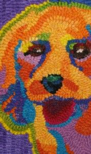 Colorful and charming dog portrait
