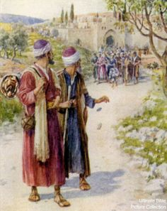 Acts 13 Bible Pictures: Paul with Barnabas on journey