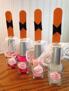 Shower favors using nail polish.