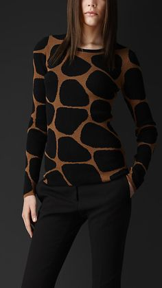 Burberry Prorsum Animal Pattern Sweater