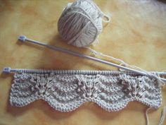 2 Novembre 2010 Come Avevo Programmato, - Diy Crafts Lace Knitting Patterns, Knitting Stiches, Knitting Videos, Knitting Charts, Easy Knitting, Loom Knitting, Crochet Stitches, Lace Patterns, New Stitch A Day