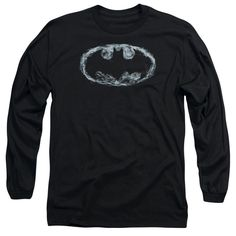 Batman/Smoke Signal Long Sleeve Adult T-Shirt 18/1 in