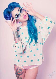 Amelia Nightmare // Alternative Model // Blue Hair