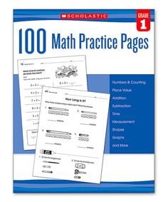 Another great find on #zulily! 100 Math Practice Pages: Grade 1 Workbook by Scholastic Teaching Resources #zulilyfinds