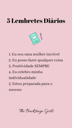 New wallpaper frases portugues ideas Inspirational Phrases, Motivational Phrases, Story Instagram, Instagram Blog, Go For It, Self Esteem, Positive Vibes, Positive Mind, Self Love
