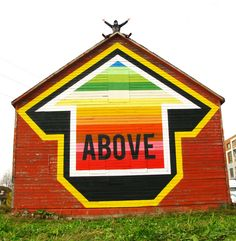 """ABOVE in Windsor, Canada painted a barn for the """"Free 4 All Walls"""" project."""