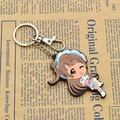 Amazon.com: Cute Rubber Figure Keyring LoveLive! School Idol Project Double Sides Image Keychain: Clothing