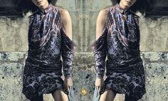 Embroidery Silk Velvet Dress by Marta Fernandez