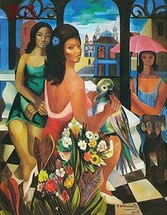 Emiliano Di Cavalcanti, Mulheres, flores e araras