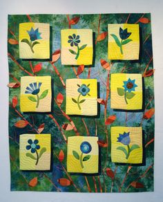 Botanica by Lisa Jenni at Think-Quilts. Award of Excellence in Domestic Home Quilting and 1st place in it's category.  2014 La Conner Quilt & Textile Museum Quilt & Fiber Arts Festival.