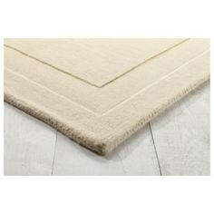 Tesco direct: Tesco Rugs Plain Wool Rug 160 x 230cm, Cream