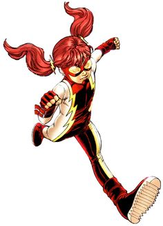 """Iris West - Originally stillborn due to Zoom attacking her mother, Linda Park-West, Wally West travelled back in time while fighting Zoom and pushed him into his own blast, causing what the doctors called """"Spontaneous pregnancy"""" in the current timeline and reviving Iris and her brother Jai, being born happy and healthy. Iris is named after her great-Aunt, Iris Allen West."""