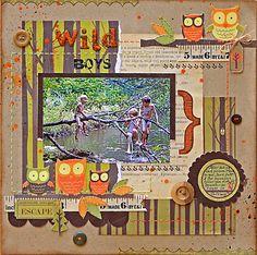 Svetlana Austin Kids Scrapbook, Scrapbook Page Layouts, Scrapbook Pages, Wood Crafts, Paper Crafts, Daylight Savings Time, Candy Cards, Kids Wood, Making Memories