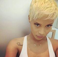 Blonde stunner @sierra_notciara - http://community.blackhairinformation.com/hairstyle-gallery/short-haircuts/blonde-stunner-sierra_notciara/