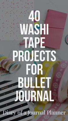 amazing washi tape projects to try on your bujo Washi Tape ideas for Bullet Journals. How to use washi tape in your bujo, over 40 creative washi tape ideas you will love. Bullet Journal Washi Tape, Bullet Journal And Diary, Bullet Journal Hacks, Bullet Journal How To Start A, Bullet Journal Layout, Bullet Journals, Bullet Journal Ideas Templates, Journal Fonts, Journal Prompts