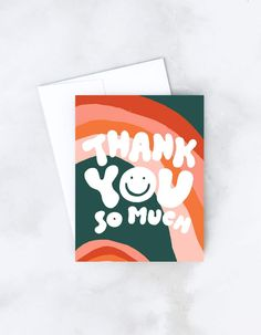 Cute Thank You Cards, Thank You Card Design, Business Thank You Cards, Thank You Card Template, Thank You Stickers, Thank You Greeting Cards, Birthday Card Drawing, Birthday Cards, Birthday Card Design