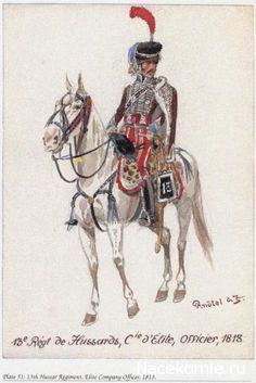 13e Régiment de Hussards, Compagnie d'élite Officier 1813