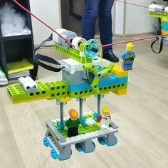 """🤖Клуб робототехники Слобода IT on Instagram: """"Канатная дорога🚠Cable car. . Очередное творческое 🎨 задание, на смекалку и сообразительность, которое мальчишки и девченки 6-8 лет собирали…"""""""