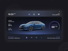 Daily Ui Challenge - Car Interface designed by Yuriy lybimov. Interface Design, Ui Design, Human Centered Design, Daily Ui, Saint Charles, Peterborough, Jobs Hiring, San Luis Obispo, Show And Tell