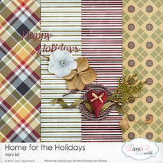 Home for the Holidays Mini Kit by Lara's Digi World