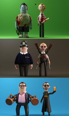 Shaun of the Dead Ed & Shaun Hot Fuzz Danny & Nick The Worlds End Andy & Gary Simon Pegg, Nick Frost, Evilcorp Simon Pegg, Movies And Series, Movies And Tv Shows, Geek Culture, Pop Culture, Geeks, Character Art, Character Design, Fritz Lang