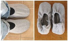Sweatshirt Slippers | 10 Adorable DIY Slippers That Will Give You The Warm Fuzzies