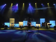 Cheap Church Stage Design Ideas | They also used 13 HighEnd X-Spots, 6 Elation Powerwashes, and a ...