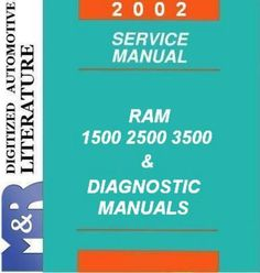 2002 Dodge RAM 1500 Service Manual 2002 Dodge RAM 2500 , 3500 Service Manual 2002 Dodge Ram DOWNLOAD