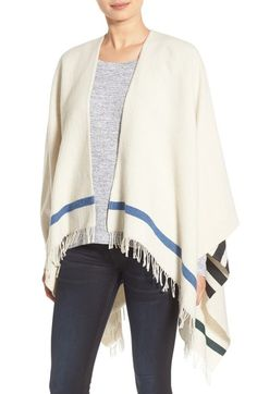 rag & bone 'Ines' Stripe Wool Blend Poncho available at #Nordstrom