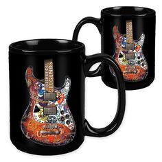 Rock & Roll Legends Guitar - 15 Ounce Sublimation Mug - Music Gift