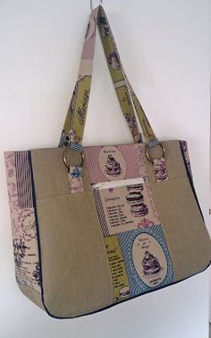 All Sewn Up by Stacey: Goin' Uptown Tote pattern release by Two Pretty Poppets