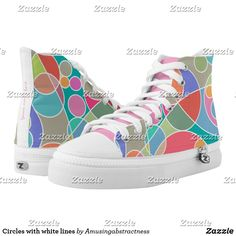 Circles with white lines High-Top sneakers Santa Fe Springs, Custom Sneakers, On Shoes, Circles, High Tops, High Top Sneakers, Your Style, Pairs, Unisex