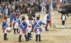 Recreation of a battle between Chilean (pro-Independence) and Spanish (pro-Monarchy) soldiers, including loud cannon fire, in the old Spanish Fort of Corral, near the city of Valdivia, Los Rios Region.