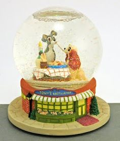 Lady and the Tramp Snow Globe. I have this.